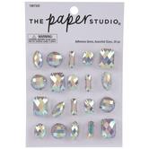 Iridescent Glitter Prong Rhinestone Stickers