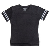 Black & White Baseball V-Neck Adult T-Shirt - Large