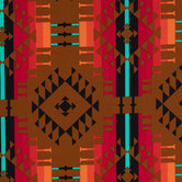 Brown & Multi Tribal Print Duck Cloth Fabric