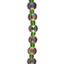 Blue Green Briolette Glass Bead Strand