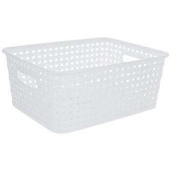 White Woven Basket
