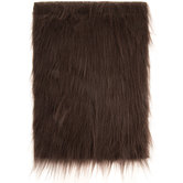 Brown Long Pile Faux Fur