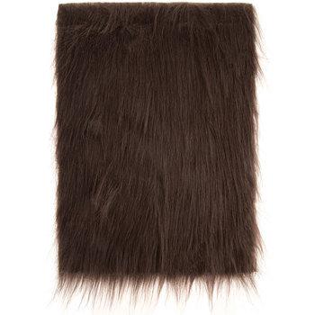 Brown Long Pile Faux Fur