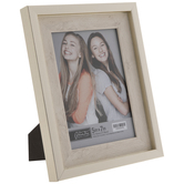 """White With Gold Trim Frame - 5"""" x 7"""""""