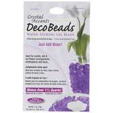 Purple Crystal Accents Deco Beads