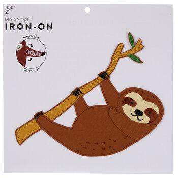 Chillax Sloth Iron-On Applique