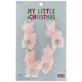Mini Pink Deer Ornaments