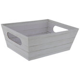 White Wood Plank Container