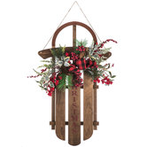 Christmas Sleigh Wood Wall Decor