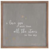All The Stars Wood Wall Decor