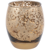 Brown Mercury Glass Candle Holder