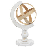 Whitewash Wood Globe