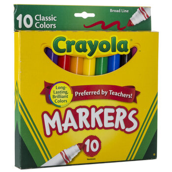 Crayola Classic Broad Line Markers - 10 Piece Set
