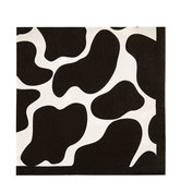 Black & White Cow Print Napkins