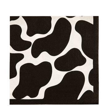 Black & White Cow Print Napkins
