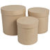 Tall Round Paper Mache Boxes - Large