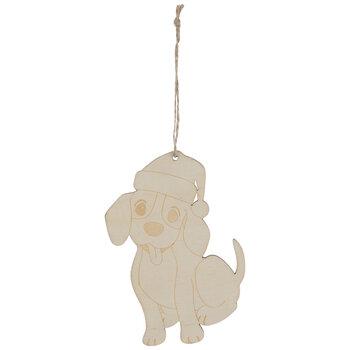 Dog With Santa Hat Ornaments