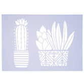 Potted Cactus Stencil