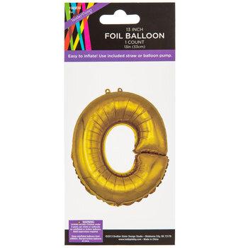 Gold Foil Letter Balloon - O