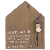 Humorous Diet Plan Wood Decor