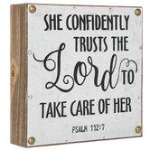 Psalm 112:7 Metal Wall Decor