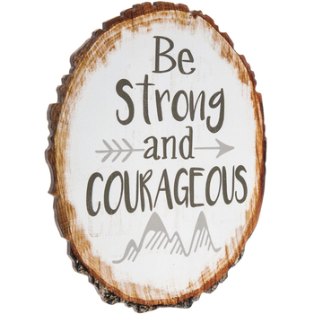 Be Strong & Courageous Wood Wall Decor