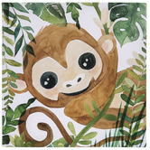 Jungle Monkey Canvas Wall Decor