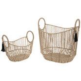 Beige Rope Basket Set