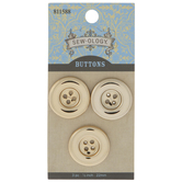 Gold Round Tire Buttons - 22mm