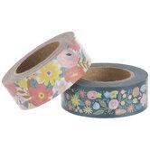 Blue & Pink Floral Washi Tape
