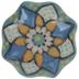 Painted Flower Knob