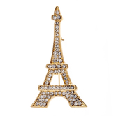 Eiffel Tower Rhinestone Brooch