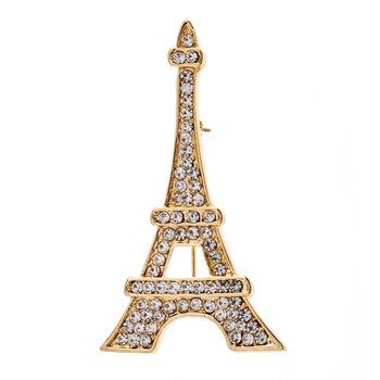 Eiffel Tower Rhinestone Brooch
