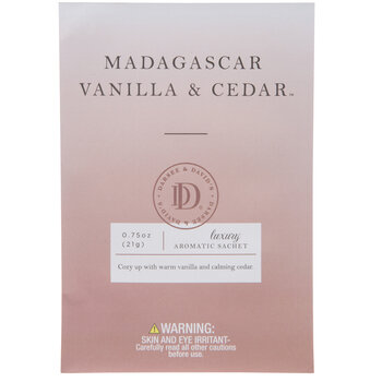 Madagascar Vanilla & Cedar Luxury Aromatic Sachets