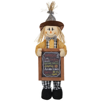 Scarecrow With Sign