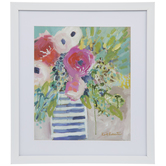 Watercolor Floral Framed Wall Decor
