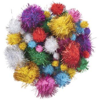Glitter Pom Poms Value Pack