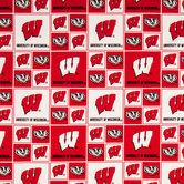Wisconsin Block Collegiate Cotton Fabric