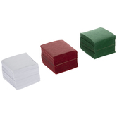 Red, Green & White Tissue Squares