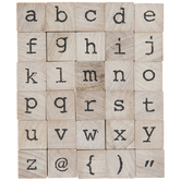 Lowercase Vintage TypeAlphabet Rubber Stamps