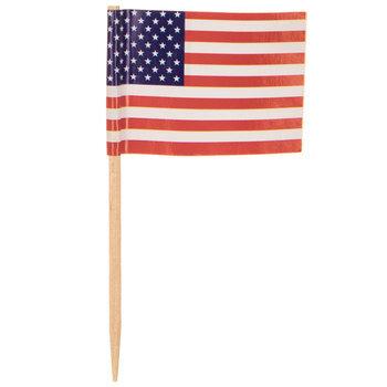 American Flag Snack Picks