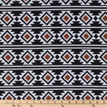 Boho Rust Aztec Apparel Fabric