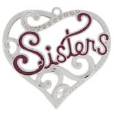 Sisters Scroll Heart Ornament