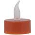 Burnt Orange LED Flickering Tea Light Candles