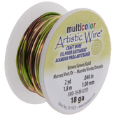 Brown & Green Artistic Wire - 18 Gauge