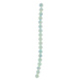 Blue Green Dyed Round Shell Bead Strand