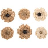 Daisy Burlap Flower Embellishments