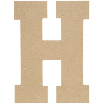 """Wood Letter H - 13"""""""
