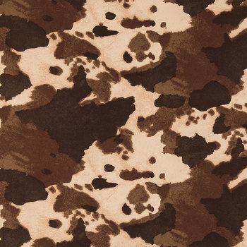 Brown Cow Print Suede Fabric