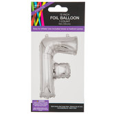 Silver Foil Letter Balloon - F